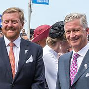 NLD/Terneuzen/20190831 - Start viering 75 jaar vrijheid, Koning Willem Alexander en  Koning Filip  van België