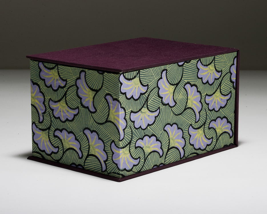 Artist: Sandra Anable. Clamshell box with printed paper and book cloth.