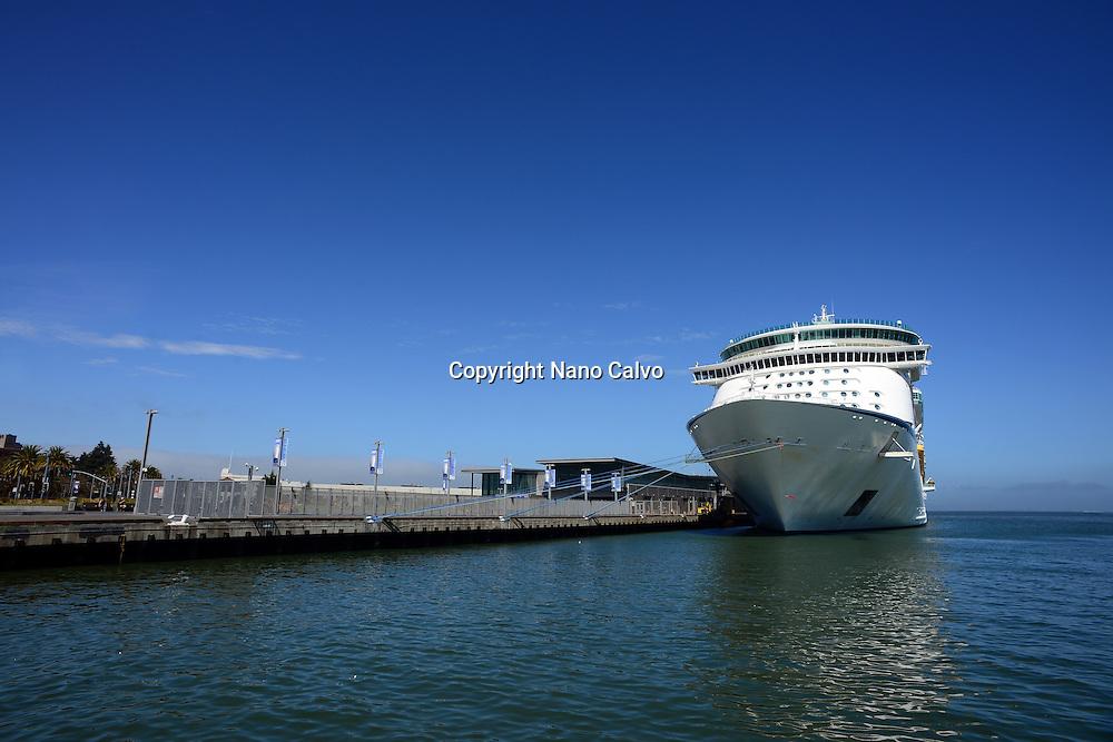 Royal Caribbean cruise ship in San Francisco port, California.