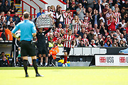 Luke Freeman of Sheffield United comes on as a substitute during the Premier League match between Sheffield United and Crystal Palace at Bramall Lane, Sheffield, England on 18 August 2019.