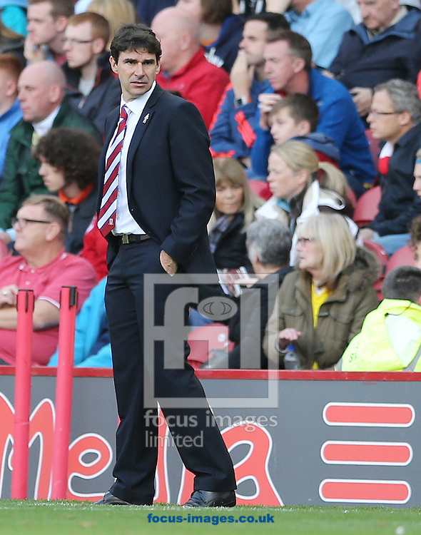 Middlesbrough head coach Aitor Karanka during the Sky Bet Championship match at the Riverside Stadium, Middlesbrough<br /> Picture by Simon Moore/Focus Images Ltd 07807 671782<br /> 12/09/2015