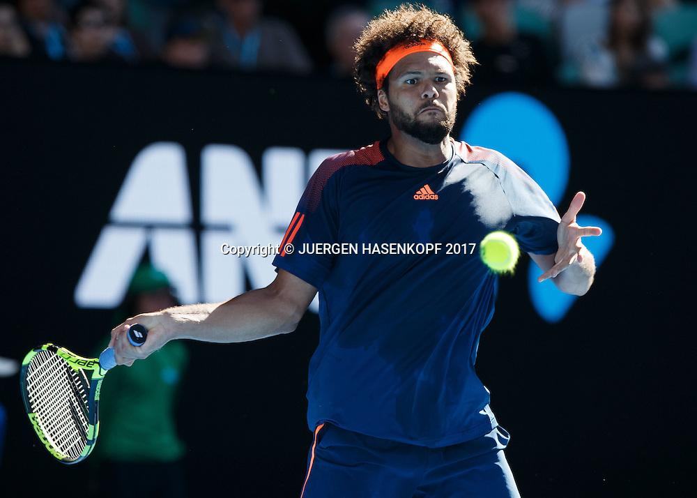 JO-WILFRIED TSONGA (FRA)<br /> <br /> Australian Open 2017 -  Melbourne  Park - Melbourne - Victoria - Australia  - 24/01/2017.