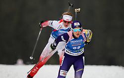 Winner Yuliia Dzhima (UKR)  during Women 15km Individual at day 5 of IBU Biathlon World Cup 2018/19 Pokljuka, on December 6, 2018 in Rudno polje, Pokljuka, Slovenia. Photo by Morgan Kristan / Sportida