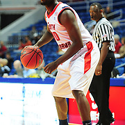 South Alabama's guard Wendell Wright (10) looks to drive in the first half of play in Mobile, AL. Denver leads South Alabama 30-24 at halftime on January 7, 2012...