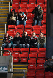 LIVERPOOL, ENGLAND - Sunday, December 2, 2007: Liverpool's fans sit together in the stand before the Premiership match against Bolton Wanderers at Anfield. (Photo by David Rawcliffe/Propaganda)