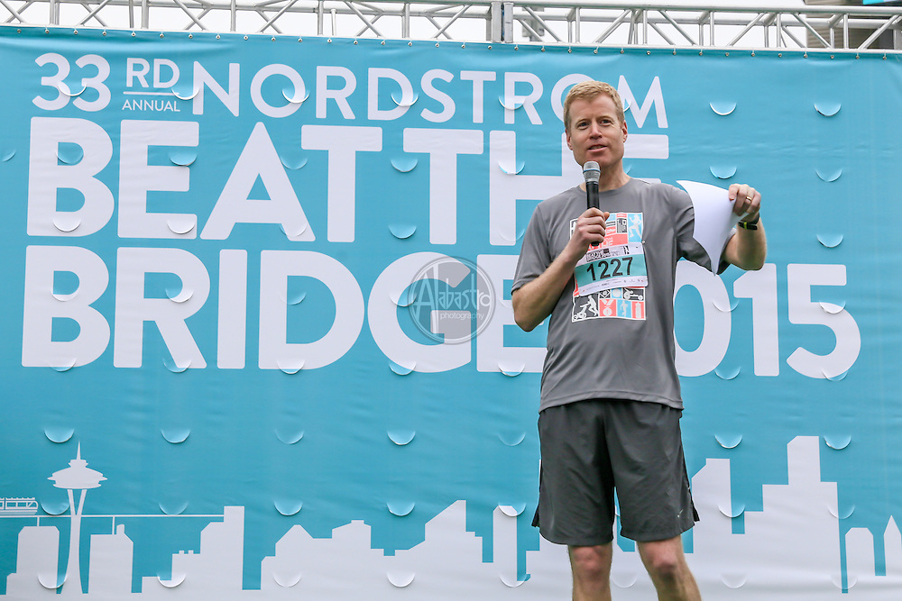 33rd Annual Nordstrom Beat the Bridge Run award winners honorary chair, Erik Nordstrom.