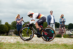 Lisa Klein (GER) on her way to second place at Boels Ladies Tour 2019 - Prologue, a 3.8 km individual time trial at Tom Dumoulin Bike Park, Sittard - Geleen, Netherlands on September 3, 2019. Photo by Sean Robinson/velofocus.com