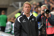 Swansea City Manager Graham Potter during the EFL Sky Bet Championship match between Swansea City and Ipswich Town at the Liberty Stadium, Swansea, Wales on 6 October 2018.