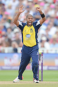 Jeetan Patel during the NatWest T20 Blast semi final match between Northamptonshire County Cricket Club and Warwickshire County Cricket Club at Edgbaston, Birmingham, United Kingdom on 29 August 2015. Photo by David Vokes.