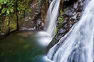 Waterfalls on the grounds of the El Silencio Lodge and Spa in Costa Rica.