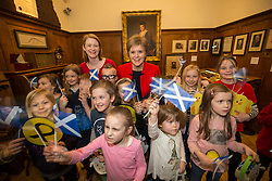 SNP Leader Nicola Sturgeon joined Dunfermline candidate Shirley-Anne Somerville for a children's Easter weekend chocolate bunny hunt at the Andrew Carnegie Birthplace Museum.