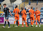 Aaron Splaine (right) is congratulated after scoring the opener - Dundee v Kilmarnock, SPFL Under 20s Development League at Dens Park<br /> <br />  - &copy; David Young - www.davidyoungphoto.co.uk - email: davidyoungphoto@gmail.com