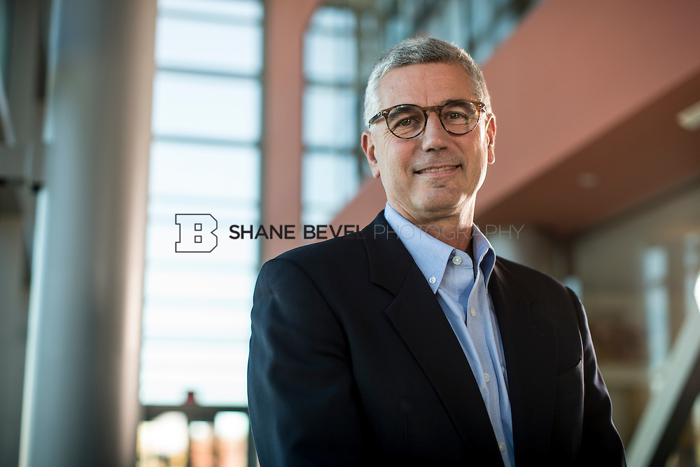 11/24/14 1:06:45 PM --- Tyson CEO Donnie Smith poses for portraits at the Tyson headquarters building in Springdale, Arkansas. <br /> <br /> Photo by Shane Bevel