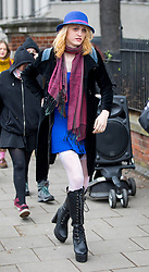 © Licensed to London News Pictures. 13/04/2018. London, UK. Transgender activist Tara Wolf leaves Hendon Magistrates Court following the second day of her trial. Maria Maclachlan (not pictured) claims 26-year-old Tara Wolf punched and pushed her during a clash at Speakers' Corner in Hyde Park last September. Photo credit : Tom Nicholson/LNP