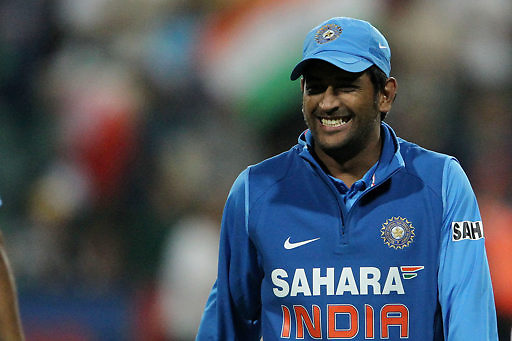 MS Dhoni of India after India win by 1 run during the 2nd ODI between South Africa and India held at Wanderers Stadium in Johannesburg, South Africa on the 15th January 2011..Photo by Ron Gaunt/BCCI/SPORTZPICS