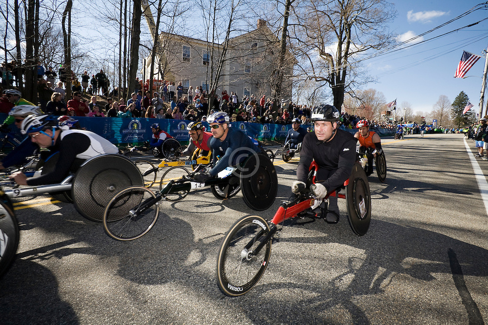 mobility-impaired athletes start race