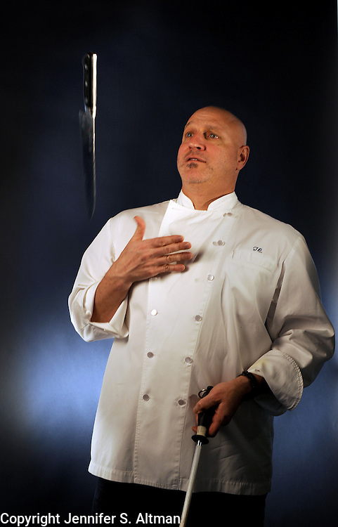 MANHATTAN, NEW YORK, APRIL 14, 2011 Chef Tom Colicchio is seen in his restaurant Colicchio & Sons in Manhattan, NY. -For food sections celebrity chef series. 4/14/2011 Photo by Jennifer S. Altman/For The Times