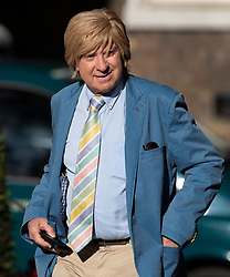 © Licensed to London News Pictures. 22/07/2019. London, UK. Michael Fabricant MP arrives for Prime Minister Theresa May's farewell drinks reception at Downing Street.  Voting in the Conservative party leadership election ends today with the results to be announced tomorrow. Photo credit: Peter Macdiarmid/LNP