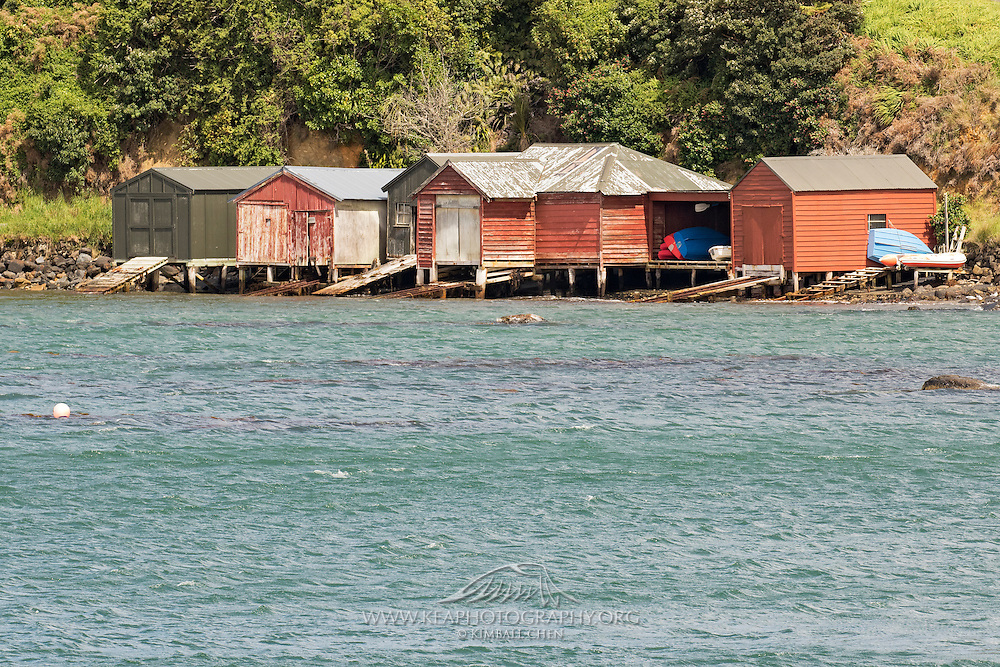 Boat Sheds at Oban, Stewart Island, New Zealand