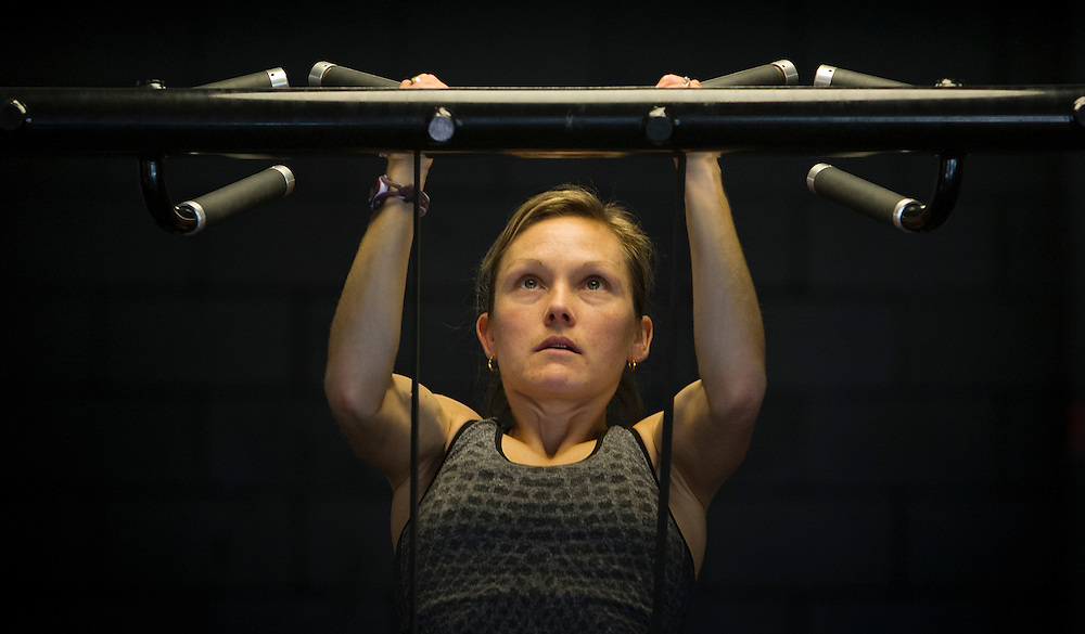 Hilary Stellingwerff  trains and goes through biomechanical and performance analytics at the PISE Pacific Institute for Sport Excellence on December 4th, 2015 in Victoria, British Columbia Canada.