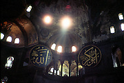 Hagia Sophia interior, Istanbul, Turkey..537 AD church of the holy wisdom; mosque in 1453