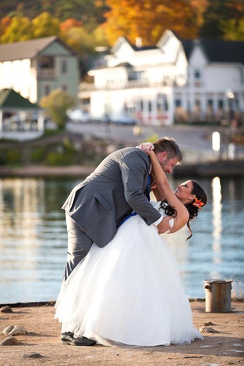 Wedding of Aaron Schumm and Laura Hansen in Bayfield, WI on October 19, 2013.