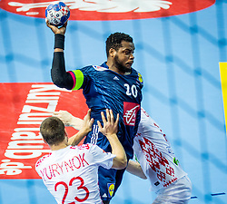 Cedric Sorhaindo of France during handball match between National teams of Belarus and France on Day 4 in Preliminary Round of Men's EHF EURO 2018, on January 16, 2018 in Arena Zatika, Porec, Croatia. Photo by Ziga Zupan / Sportida