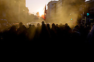 Roma 27 Febbraio 2015<br /> Manifestazione a piazzale Flaminio,vicino a Piazza del Popolo, degli  antifascisti, che protestano contro la manifestazione prevista per sabato 28 febbraio di Matteo Salvini a piazza del Popolo.<br /> Rome February 27, 2015<br /> Demonstration in Piazzale Flaminio, near Piazza del Popolo, of the anti-fascists, who protest against the demonstration planned for Saturday, February 28 of Matteo Salvini to Piazza del Popolo.