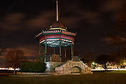 Gazebo at night, Wakefield, MA