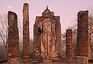 Buddha Statue, Wat Sapham Him, Sukhothai Historical Park, Sukhothai, Thailand