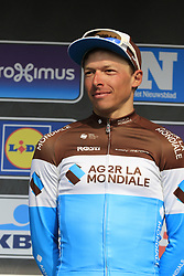 Oliver Naesen (BEL) AG2R La Mondiale finishes in 3rd place at the end of the 2019 Gent-Wevelgem in Flanders Fields running 252km from Deinze to Wevelgem, Belgium. 31st March 2019.<br /> Picture: Eoin Clarke | Cyclefile<br /> <br /> All photos usage must carry mandatory copyright credit (&copy; Cyclefile | Eoin Clarke)