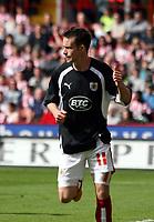 Photo: Mark Stephenson/Richard Lane Photography. <br /> Sheffield United v Cardiff City. Coca-Cola Championship. 19/04/2008. <br /> Bristol's Michael McIndoe celebrates his goal for 1-0