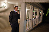 Bob Vander Plaats talks on the phone outside the Iowa For Freedom watch party held at Comfort Suites in Urbandale, Iowa on Tuesday November 2, 2010. Iowa for Freedom was urging people to vote against the three Supreme Court Justices up for retention. (Stephen Mally for The New York Times)
