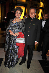 NAND KHEMKA and PRINCESS JEET NABHA KHEMKA at a dinner to celebrate the opening of 'Maharaja - The Spendour of India's Royal Courts' an exhbition at the V&A, London on 6th October 2009.