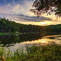 Long Pond view in the Berkshires, Massachusetts.