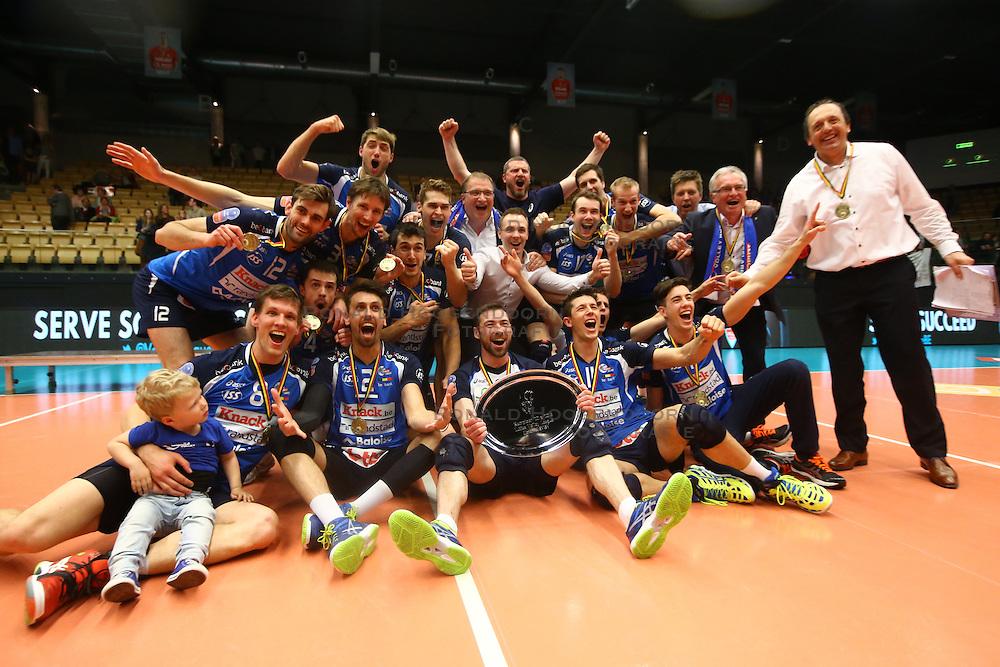 20160505 BEL: Volleybal: Noliko Maaseik - Knack Roeselare, Maaseik  <br />Knack Roeselare Kampioen van Belgie 2015 - 2016