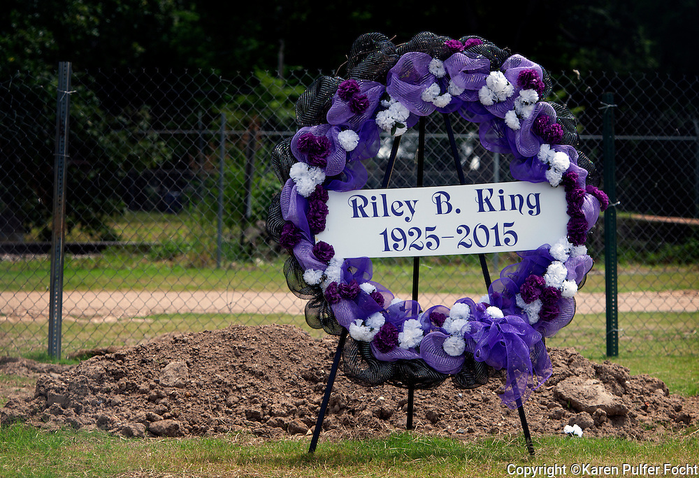 The fresh grave of B.B. King sits outside the B.B. King Museum in Indianola, Mississippi. It will eventually be developed into a memorial garden. The family of blues legend of B.B. King, has hired a prominent lawyer to look into the circumstances surrounding King's death and finances.