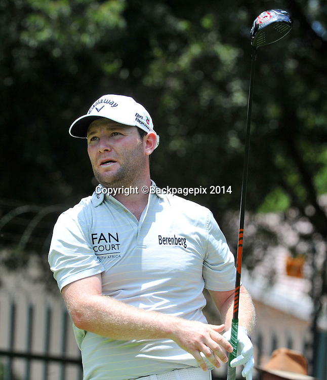 Branden Grace during the 2015 South Africa Golf Open Championship at the Glendower Golf Course in Johannesburg, South Africa on January 10, 2014 ©Samuel Shivambu/BackpagePix