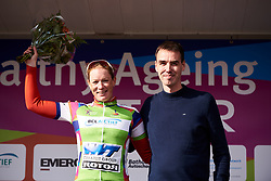 Kirsten Wild (NED) leads the points competition at Healthy Ageing Tour 2019 - Stage 4B, a 74.6km road race from Wolvega to Heerenveen, Netherlands on April 13, 2019. Photo by Sean Robinson/velofocus.com