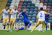 Callum Camps wins the ball during the EFL Sky Bet League 1 match between Rochdale and Gillingham at Spotland, Rochdale, England on 15 September 2018.