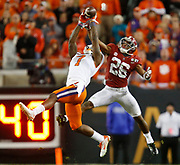 Clemson wide receiver Mike Williams (7) makes a dramatic fourth quarter catch over Alabama defensive back Marlon Humphrey (26) during Clemson's 35-31 victory over Alabama in the College Football Playoff National Championship game in Raymond James Stadium in Tampa Monday, January 9, 2017. Staff Photo/Gary Cosby Jr.