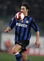 Ibrahimovic (Inter)<br /> Lazio vs Inter<br /> Campionato di Calcio Serie A 2007/2008<br /> Stadio Olimpico, 29/03/2008<br /> Photo Antonietta Baldassarre Inside