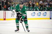 DALLAS, TX - SEPTEMBER 26:  Sergei Gonchar #55 of the Dallas Stars skates without the puck against the Colorado Avalanche in an NHL preseason game on September 26, 2013 at the American Airlines Center in Dallas, Texas.  (Photo by Cooper Neill/Getty Images) *** Local Caption *** Sergei Gonchar