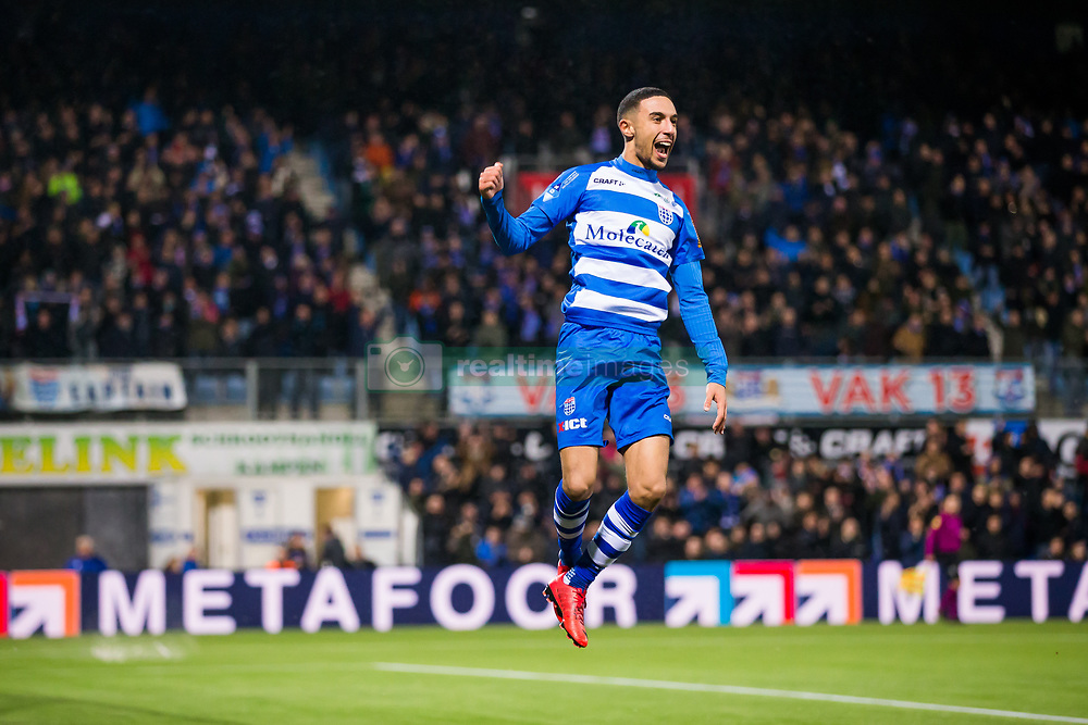 goal Younes Namli of PEC Zwolle during the Dutch Eredivisie match between PEC Zwolle and Vitesse Arnhem at the MAC3Park stadium on January 27, 2018 in Zwolle, The Netherlands