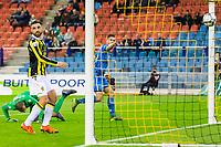 ARNHEM - 08-11-2015, Vitesse - AZ, Gelredome Stadion, AZ speler Markus Henriksen scoort hier de 0-2, doelpunt.