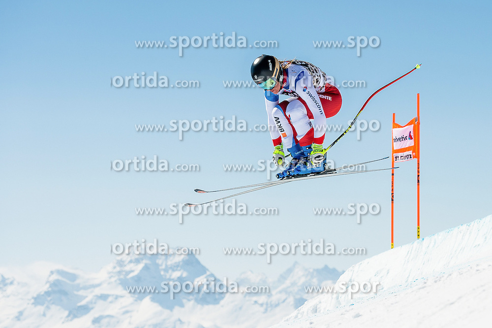 14.03.2016, Engiadina, St. Moritz, SUI, FIS Weltcup Ski Alpin, St. Moritz, Abfahrt, Damen, 1. Training, im Bild Fabienne Suter (SUI) // competes in her 1st training run for the ladie's Downhill of st. Moritz Ski Alpine World Cup finals at the Engiadina in St. Moritz, Switzerland on 2016/03/14. EXPA Pictures &copy; 2016, PhotoCredit: EXPA/ Freshfocus/ Manuel Lopez<br /> <br /> *****ATTENTION - for AUT, SLO, CRO, SRB, BIH, MAZ only*****