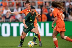 01-06-2019 NED: Netherlands - Australia, Eindhoven<br /> <br /> Friendly match in Philips stadion Eindhoven. Netherlands win 3-0 / Hayley Raso #16 of Australia