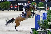 Steve Guerdat on Bianca during the Equestrian FEI World Cup Jumping Lyon 2017, CSI5 Longines Grand Prix on November 4, 2017 at Eurexpo Lyon in Chassieu, near Lyon, France - Photo Romain Biard / Isports / ProSportsImages / DPPI