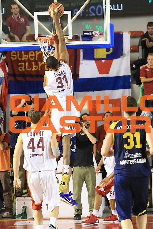 DESCRIZIONE : Roma Lega A 2012-2013 Acea Roma Sutor Montegranaro<br /> GIOCATORE : Gani Lawal<br /> CATEGORIA : controcampo schiacciata<br /> SQUADRA : Acea Roma<br /> EVENTO : Campionato Lega A 2012-2013 <br /> GARA : Acea Roma Sutor Montegranaro<br /> DATA : 05/05/2013<br /> SPORT : Pallacanestro <br /> AUTORE : Agenzia Ciamillo-Castoria/M.Simoni<br /> Galleria : Lega Basket A 2012-2013  <br /> Fotonotizia : Roma Lega A 2012-2013 Acea Roma Sutor Montegranaro<br /> Predefinita :