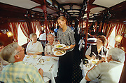 "Rovos Rail. Dining car ""Shangani""."
